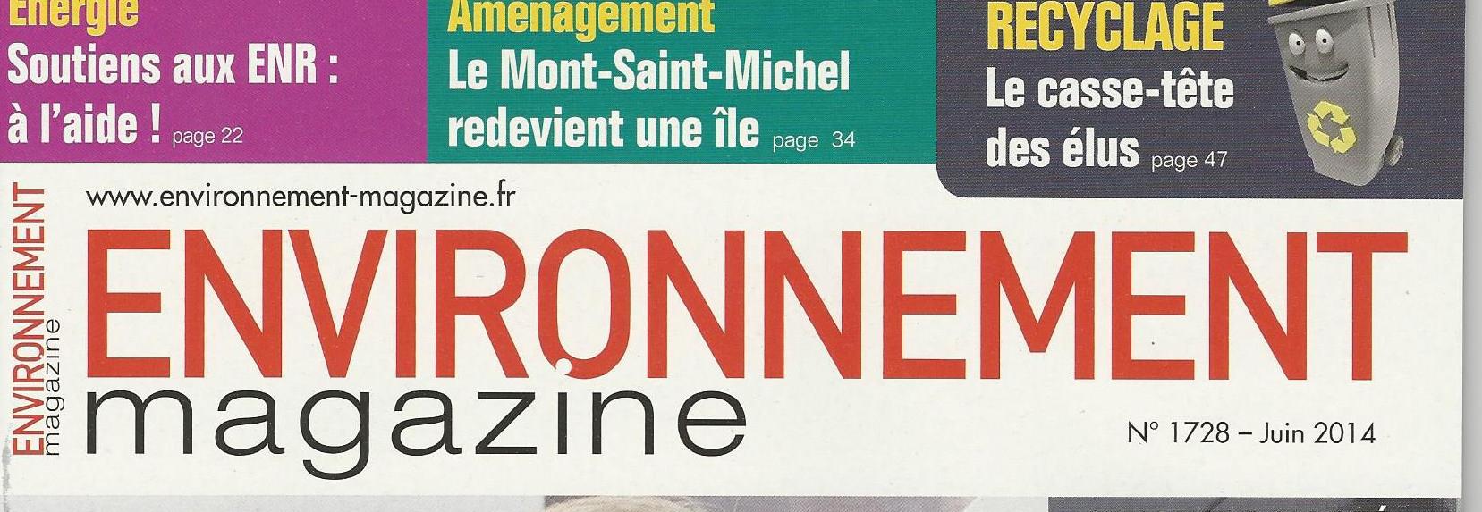 Environnement magazine Juin 2014