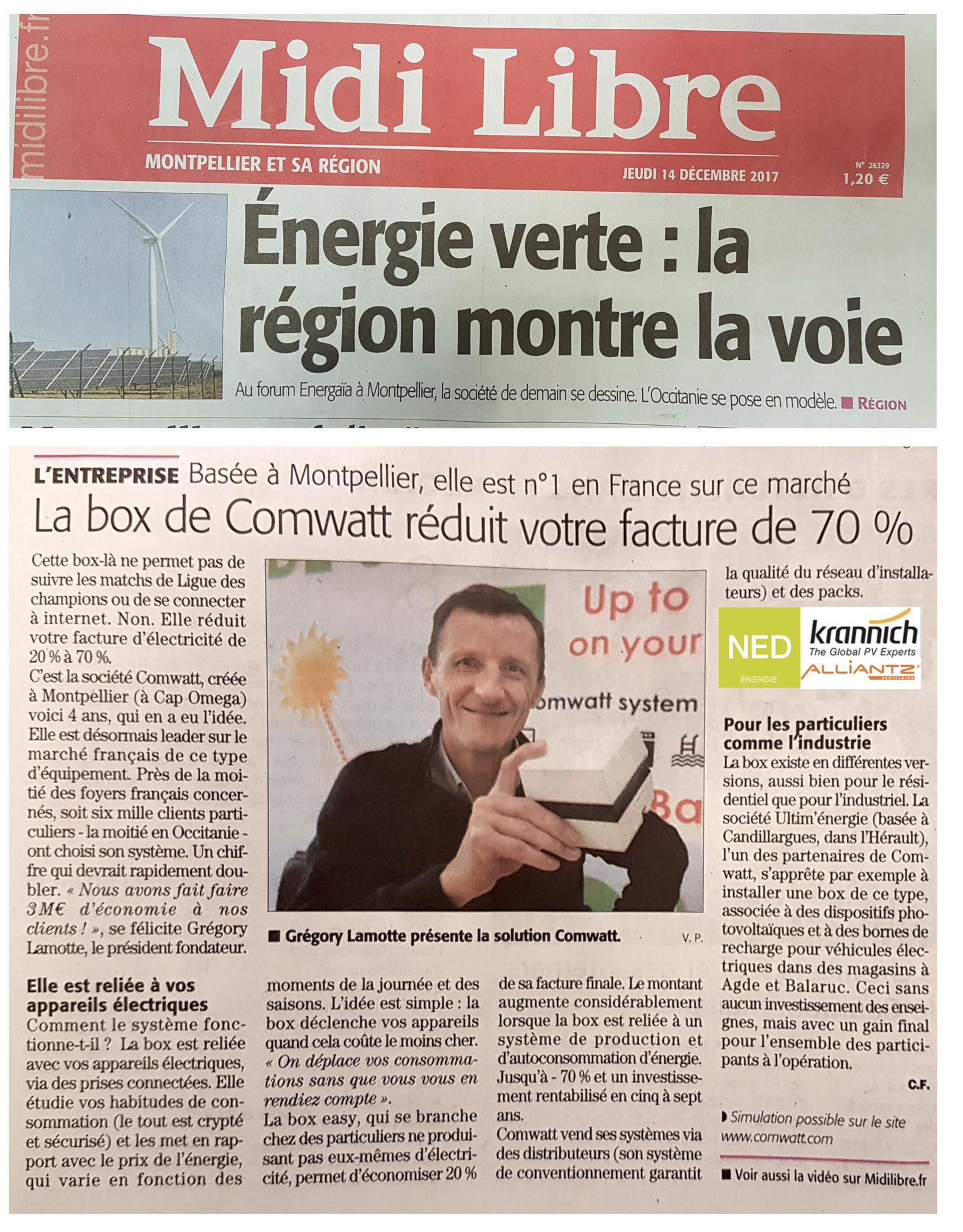 Comwatt dans la presse à l'occasion de Energaïa 2017, l'autoconso superstar