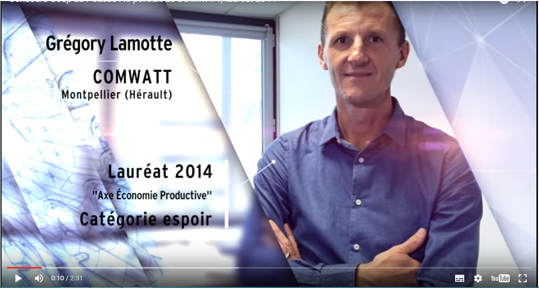 "Close look at COMWATT 2014 winner of ""Coup de pousse"" competition"