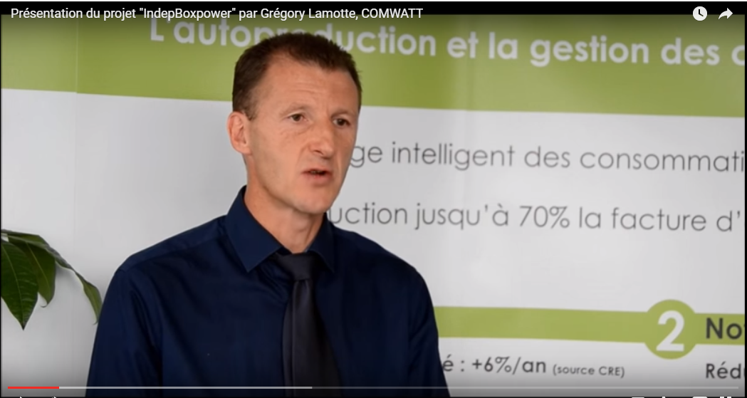 "Presentation of the "" IndepBoxpower "" by Grégory Lamotte , COMWATT"