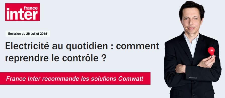 France Inter prescrit les solutions Comwatt