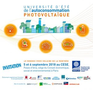 Université d'été de l'autoconsommation solaire